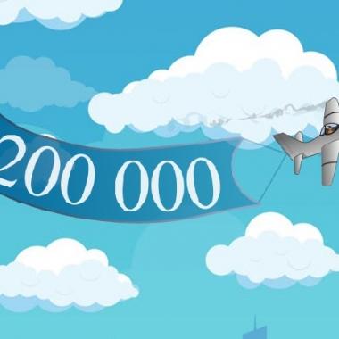 Unsere Piloten erreichten gemeinsam 200'000 Flugstunden